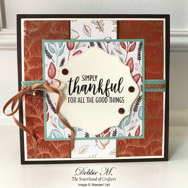 Elegant Thanksgiving Card with Country Home by Stampin' Up!