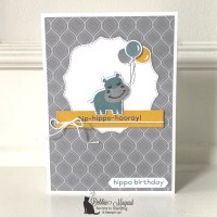 Fun Birthday Card with Hippo Happiness by Stampin