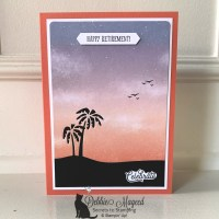 Beach Card with Senior Years by Stampin