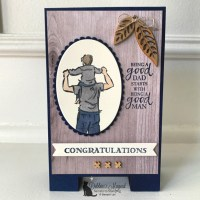 Masculine Card Featuring A Good Man Stamp Set by Stampin
