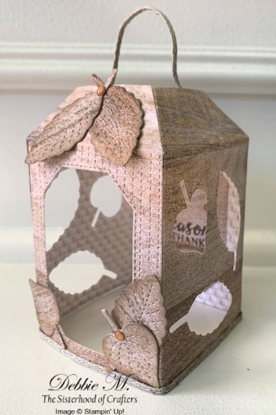 Cute Seasonal Lanterns with Snow Wonder and Love of Leaves by Stampin' Up!