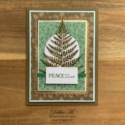 Forever Gold Designer Paper Holiday Card for Sisterhood of Crafters