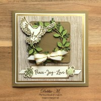 Christmas Card Featuring Dove of Peace by Stampin