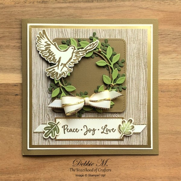 Christmas Card Featuring Dove of Peace by Stampin' Up!