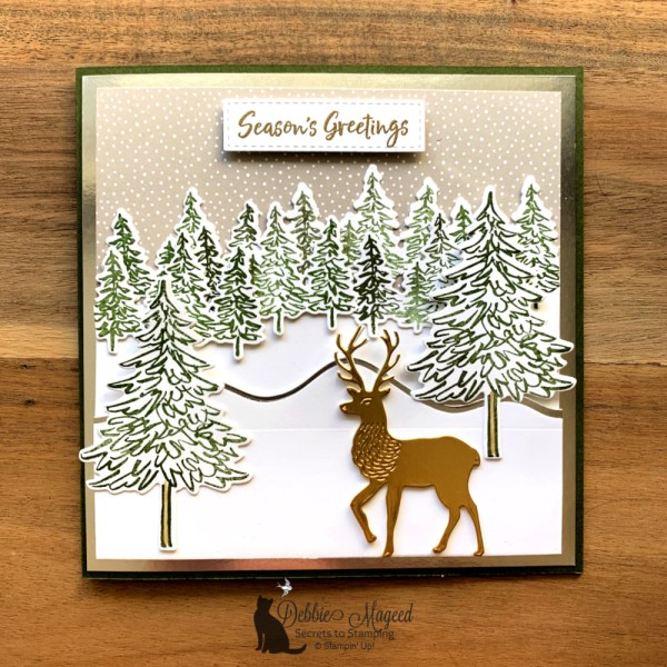 Peaceful Christmas Scene Using In The Pines by Stampin' Up!