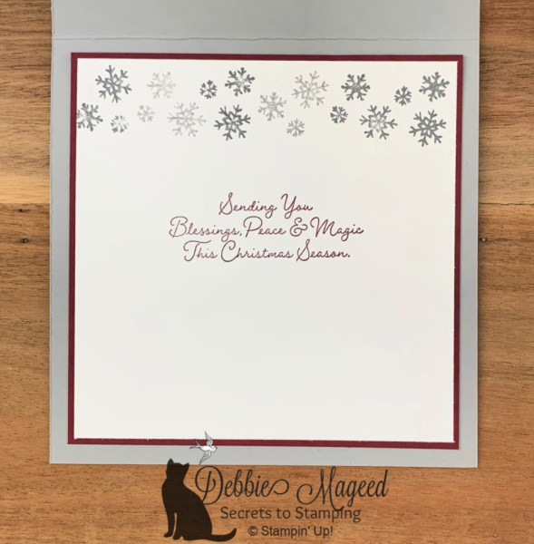 Christmas Card Featuring Snow Wonder Stamp Set by Stampin' Up!