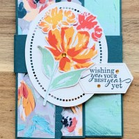 Fun Fold Birthday Card Featuring Art Gallery by Stampin