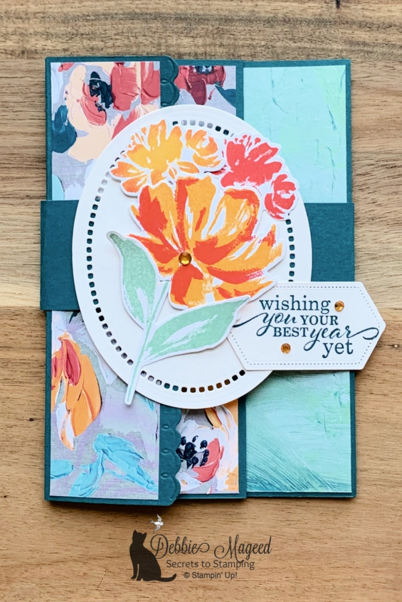 It\'s An Art Gallery Fun Fold Card for Happy Little Stampers