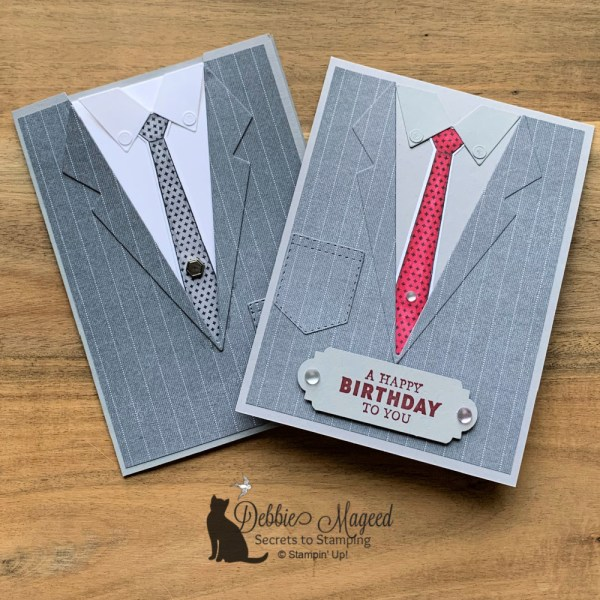 Handsomely Suited Masculine Card By Stampin' Up!