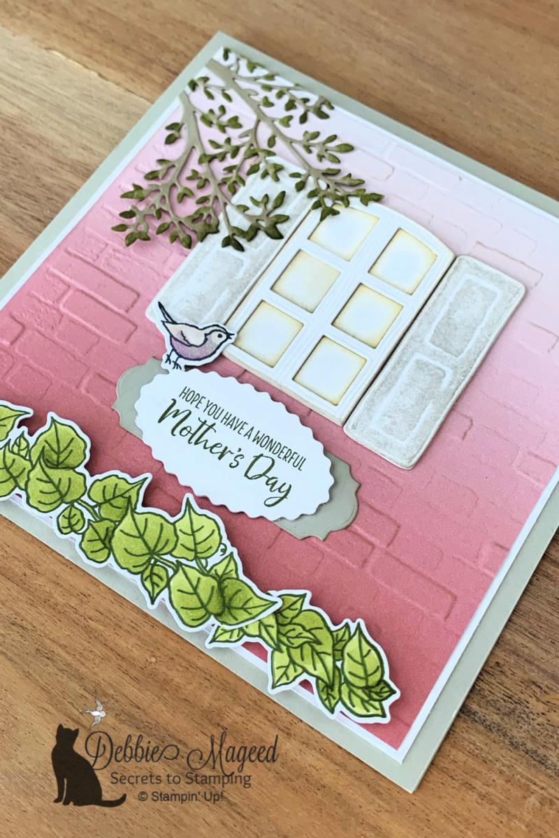 Pretty  and Feminine Welcoming Window Card for Cardz 4 Galz