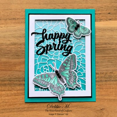 Butterfly Brilliance Spring Card for the Sisterhood of Crafters