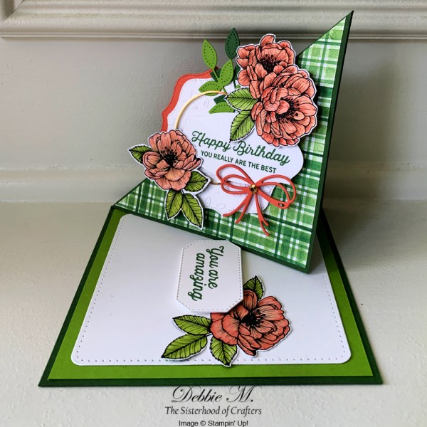 In Bloom Twisted Easel Card by Secrets to Stamping