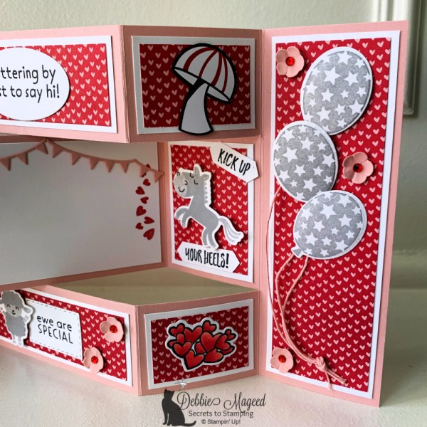Tri Shutter Birthday Card by Secrets To Stamping