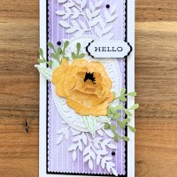 Prized Peony Slimline Card by Secrets to Stamping