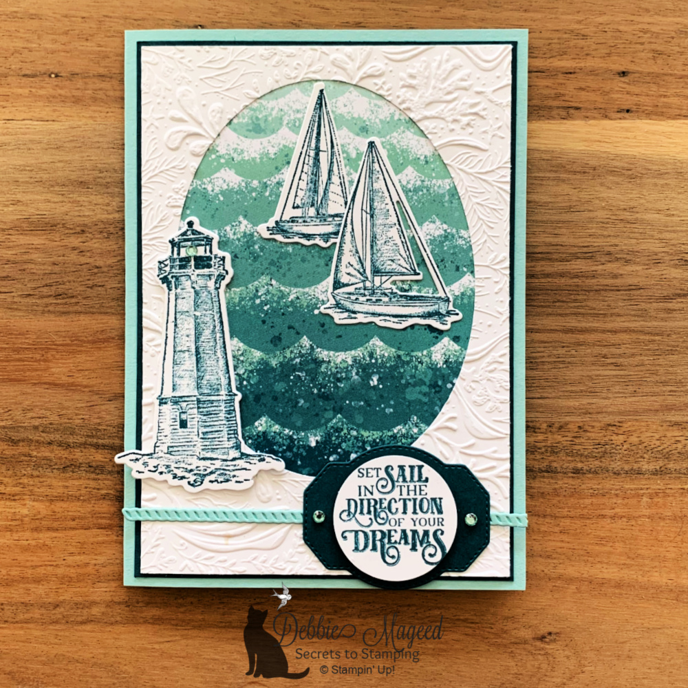 Masculine Sailing Home Card for Happy Little Stampers Die Challenge