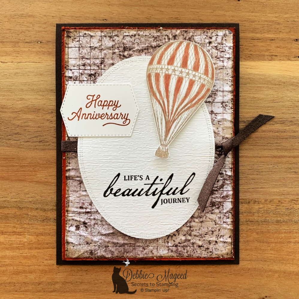 Soar Confidently Anniversary Card for the Alphabet Challenge