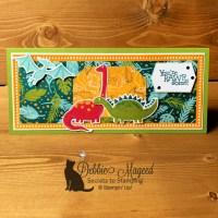 Dino Days Slimline Card for the Alphabet Challenge