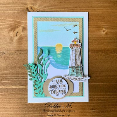 Sending Sunshine and Sailing Home Card for the Sisterhood of Crafters