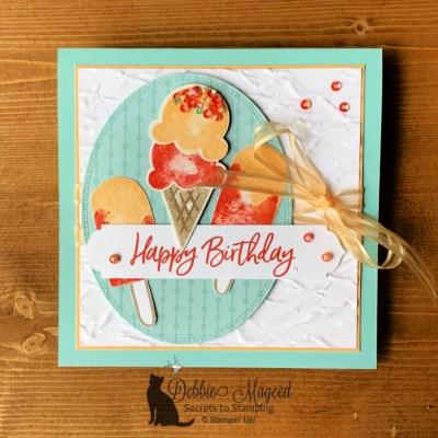 Sweet Ice Cream Birthday Card for the Cardz 4 Galz Challenge