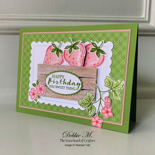 Sweet Strawberry Birthday Card by Secrets To Stamping