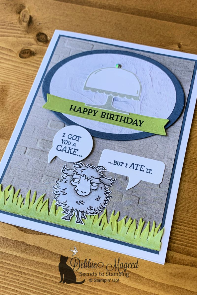 Way To Goat Birthday Card for the Alphabet Challenge