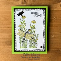 Dragonfly Garden Birthday Card for the Alphabet Challenge