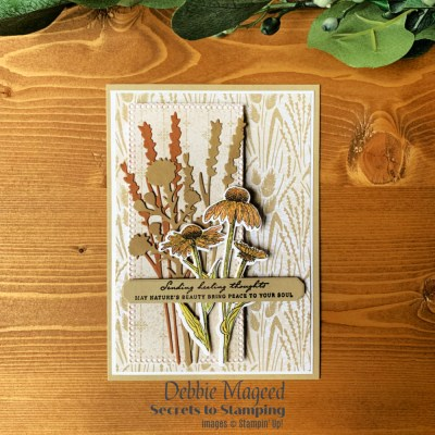 Nature's Harvest Thoughts for the Happy Little Stampers Die Challenge