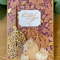 Pretty Pumpkins Fun Fold Card for Creative Creases #16