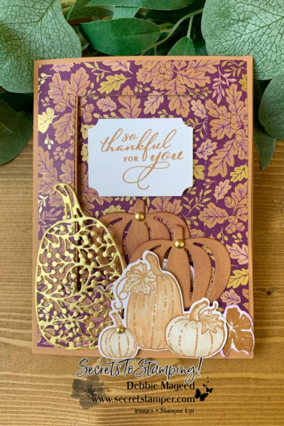 Fun Fold Card Using Pretty Pumpkins by Secrets To Stamping