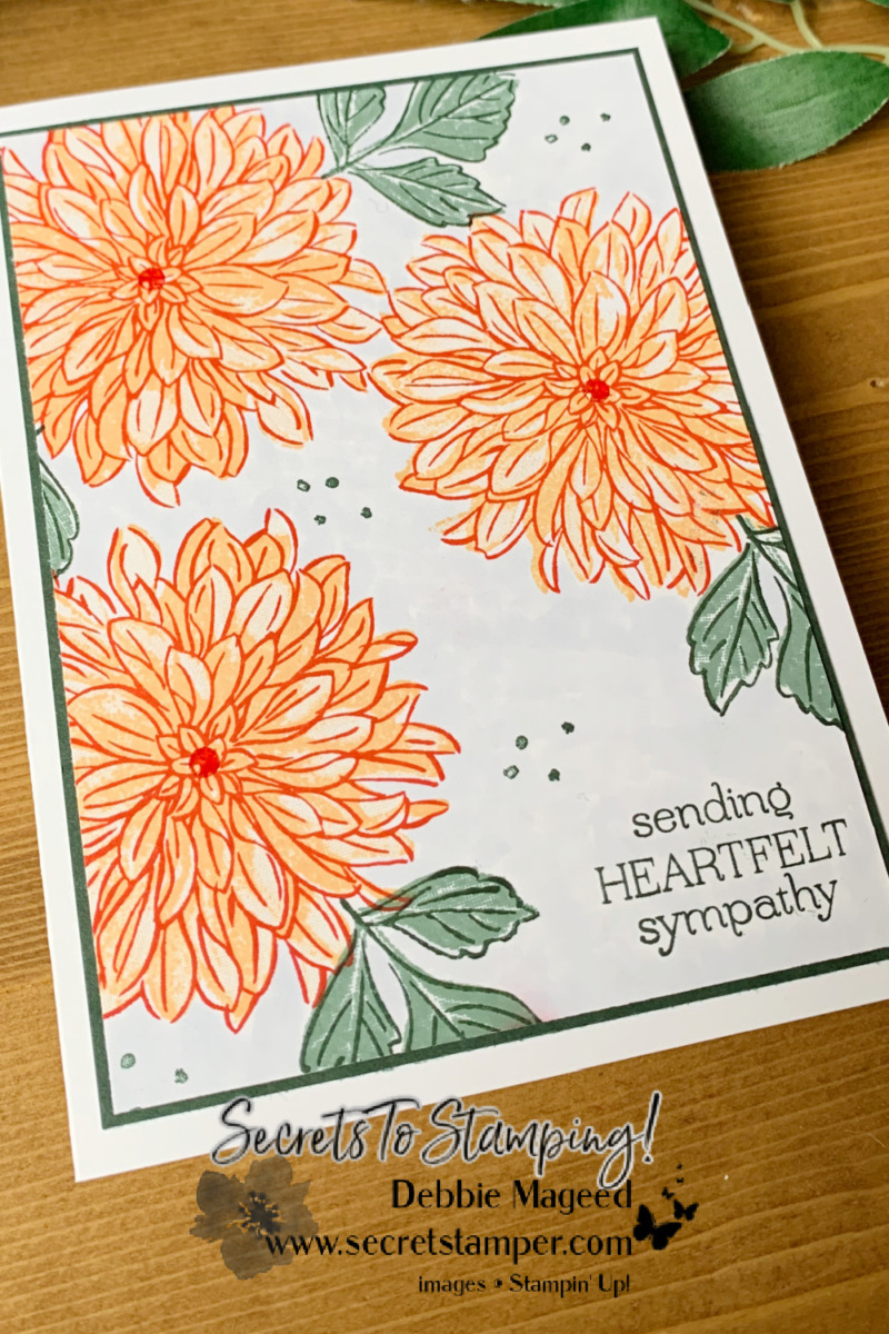 Pretty Cards Made with Delicate Dahlias for the Alphabet Challenge