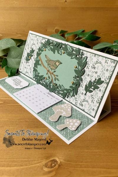 Eden's Garden Slimline Calendar Card by Secrets To Stamping