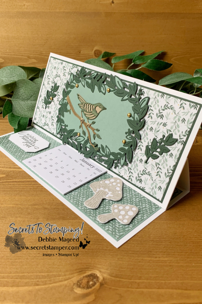 Eden\'s Garden Slimline Calendar Card for the Pals Blog Hop