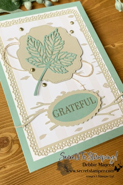 Intricate Leaves Autumn Card by Secrets To Stamping