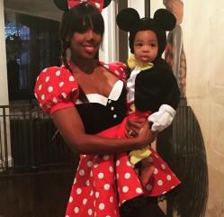 Kelly Rowland & Her Baby as Mickey & Minnie