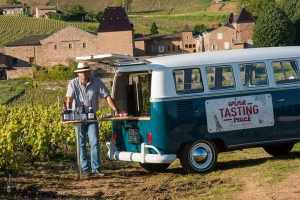 burgundy beaujolais secret wine tour wine tasting truck chateau de julienas