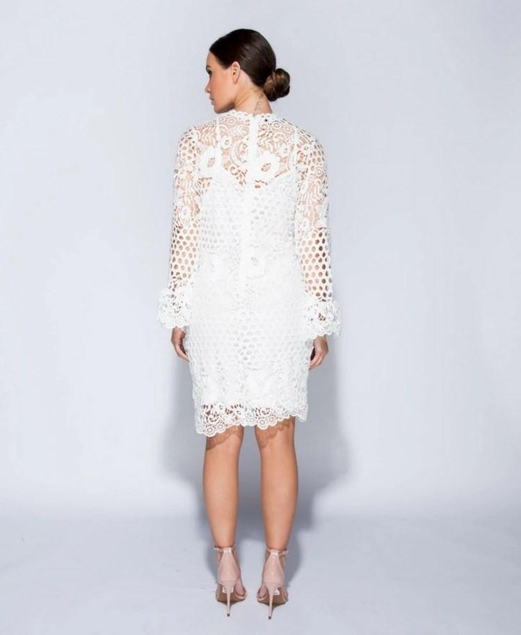 1a1ea5cd02 Strona główna   Sukienki   Mini   Lasure Sukienka z Koronki Biała