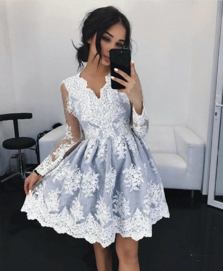 57cd7344c6 Avril Sukienka Rozkloszowana Szara z Koronki - Secret Wish Boutique