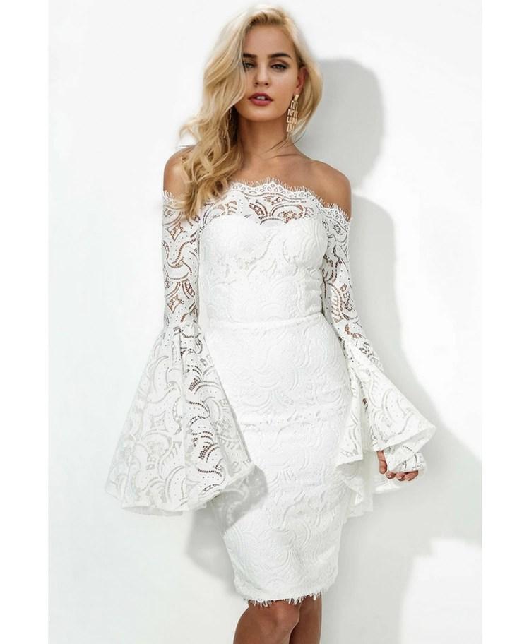 40a54c18ae Strona główna   Sukienki   Glam   Vanilla Sukienka Hiszpanka Biała z Koronki  Midi