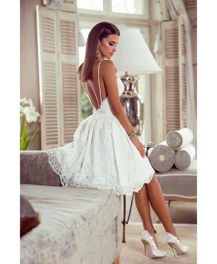 7b35695e8b7978 Retica Sukienka Koronkowa Biała na Ramiączkach - Secret Wish Boutique