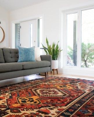 Carpets, rugs and sofa need vacuuming