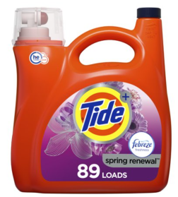 A Tide & Renewal HE liquid laundry detergent