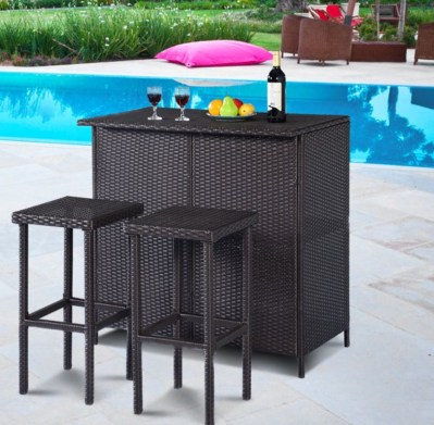A patio furniture - Wicker Bar Set