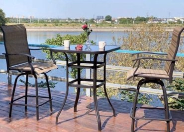 A patio furniture - Swivel Bar Stools