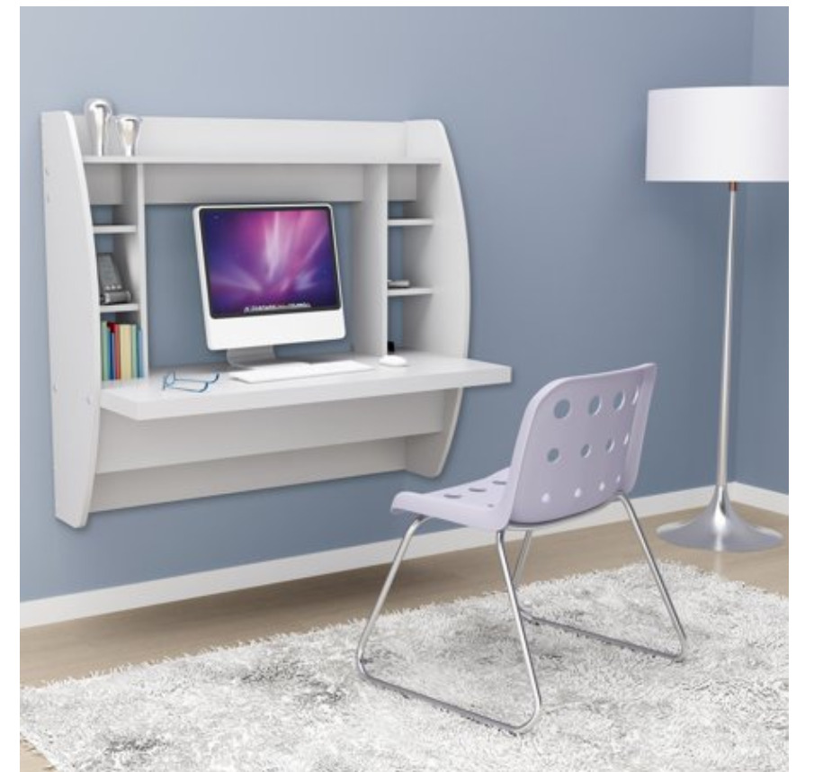 Small Space Furniture: A wall-hanging desk