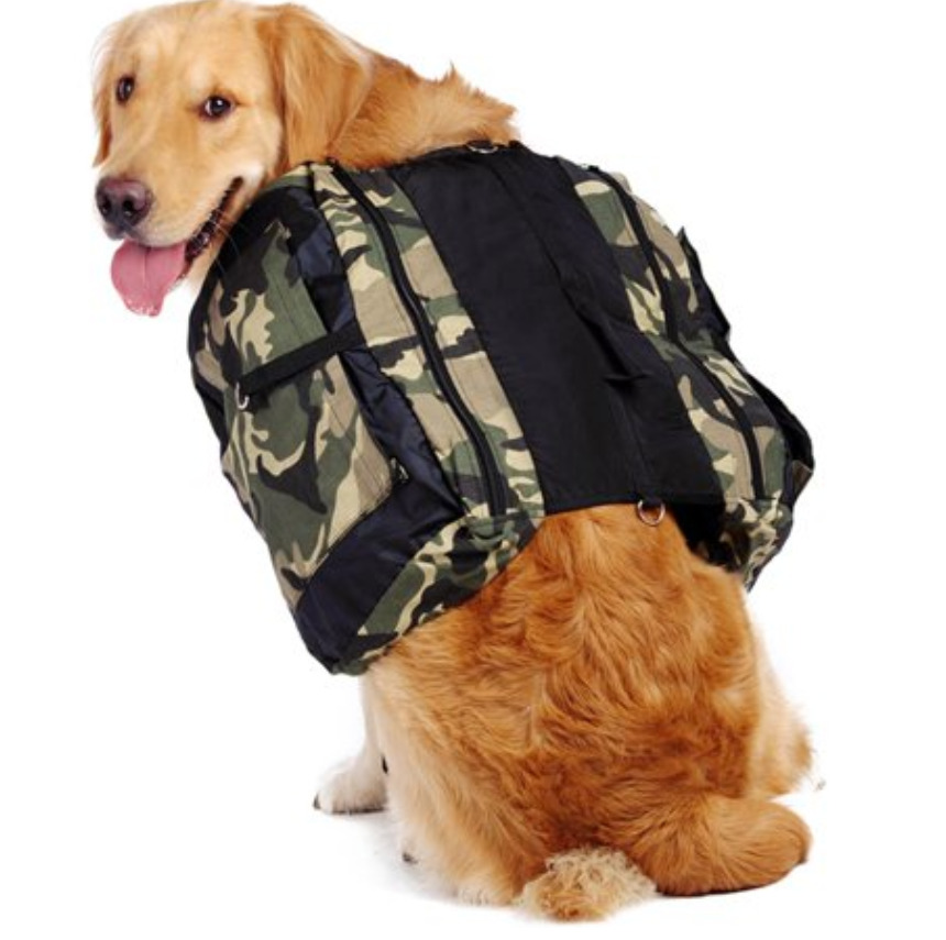 Dogs Hiking Gear: A dog camping hiking backpack saddle bag
