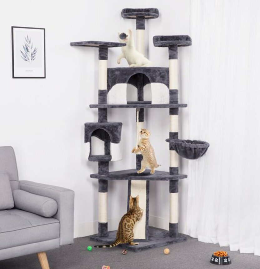 Cat Supplies: Large cat tree tower condo post pet play house