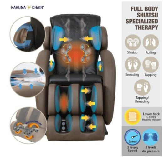Massage Chair: Kahuna full-body zero gravity massage chair with heating therapy