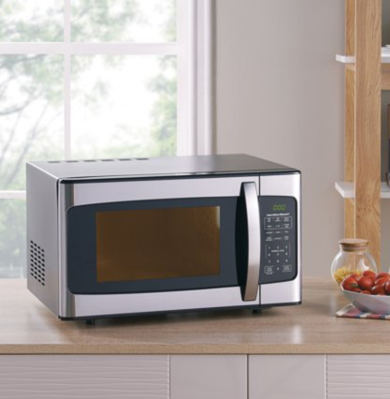 Hamilton Beach 1.1 Cu. Ft. 1000W Stainless Steel Microwave