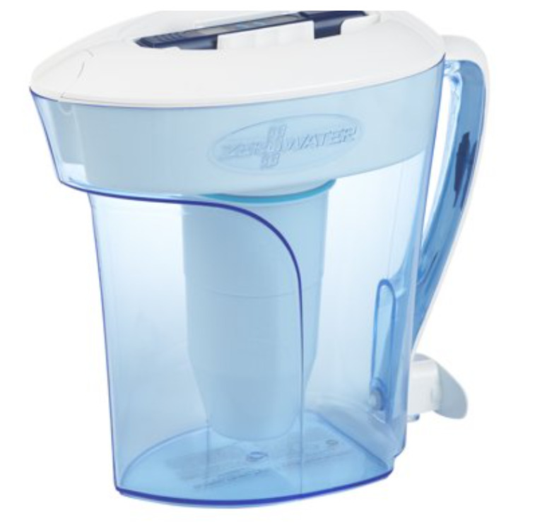 ZeroWater 10-Cup Filtered Water Pitcher with Water Quality Meter