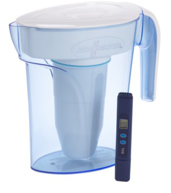 ZeroWater 6-Cup Filtered Water Pitcher with Water Quality Meter